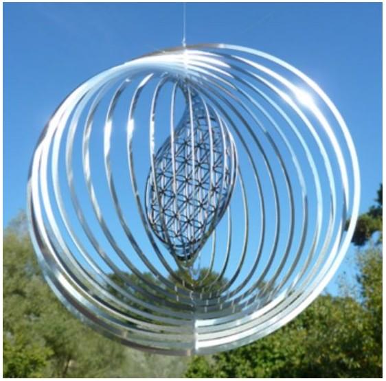 Mobile Fleur de vie Spirale - Feng Shui - métal