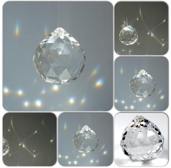 Sphère de cristal - 4 cm - arc en ciel - Feng Shui - aaa