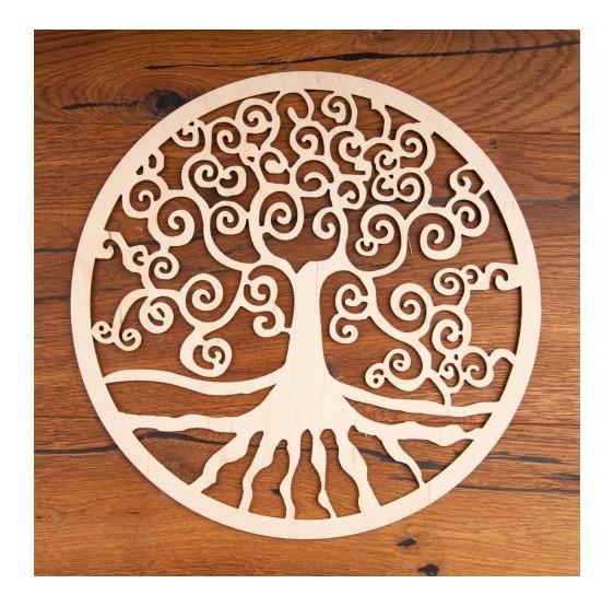 Arbre de Vie en bois - 12 cm - plaque