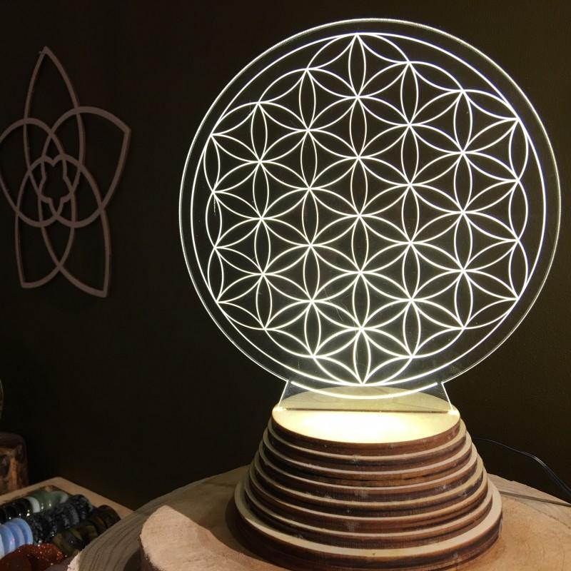 o se trouve la lampe fleur de vie dans votre espace de vie. Black Bedroom Furniture Sets. Home Design Ideas