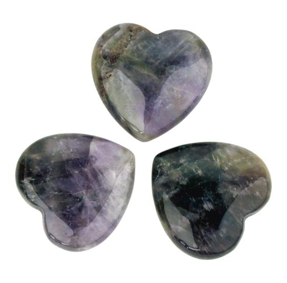 Amethyste - Gratitude coeur poli - pierre