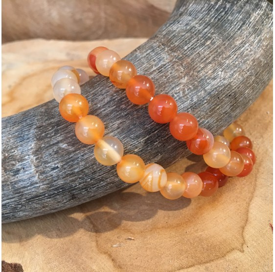 Bracelet Cornaline - elastique