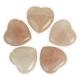 Coeur Quartz rose percé - pendentif (cordon inclus)