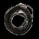 Collier fil en cuir NOIR avec fermoir - 45 cm