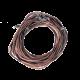 Collier fil en cuir BRUN avec fermoir - 45 cm
