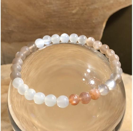 Bracelet Pierre de Lune - elastique