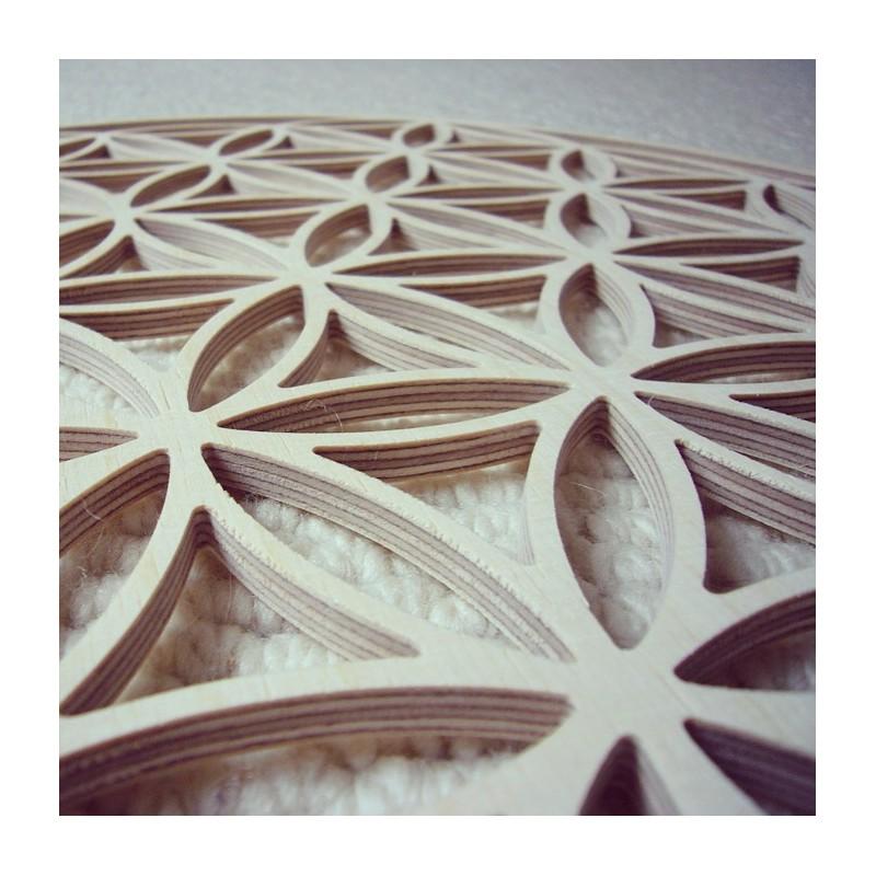 fleur de vie en bois 39 cm energies de vie. Black Bedroom Furniture Sets. Home Design Ideas