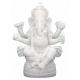 Ganesh statue blanche