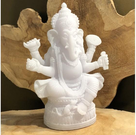 Ganesh statue blanche - 17 cm