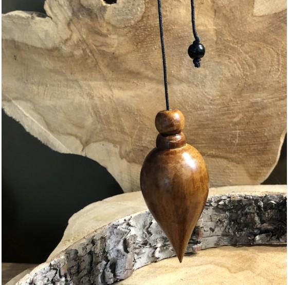 Pendule cristal de roche -  perle en ornement