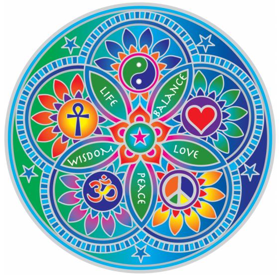 Living Energy Mandala sunseal 14 cm