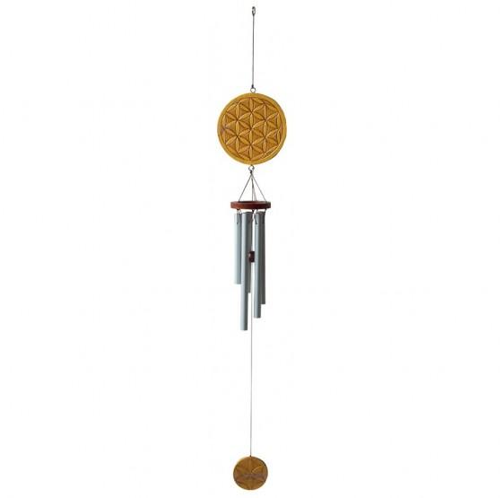 Mobile Carillon Fleur de Vie - bois peint