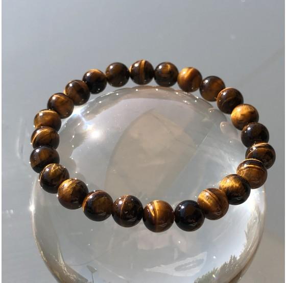Bracelet Oeil de tigre - elastique