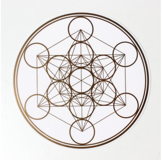 Metatron 18 cm Repositionnable OR/ARGENT Transparent