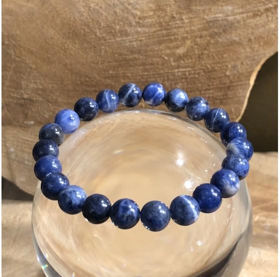 Bracelet Sodalite 8 mm -  elastique