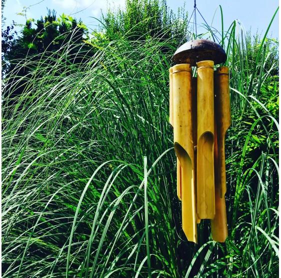 Mobile carillon bambou 60 cm - 5 tubes