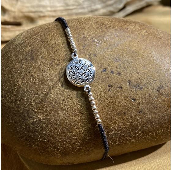 Bracelet fleur de vie argent - 1,2 cm