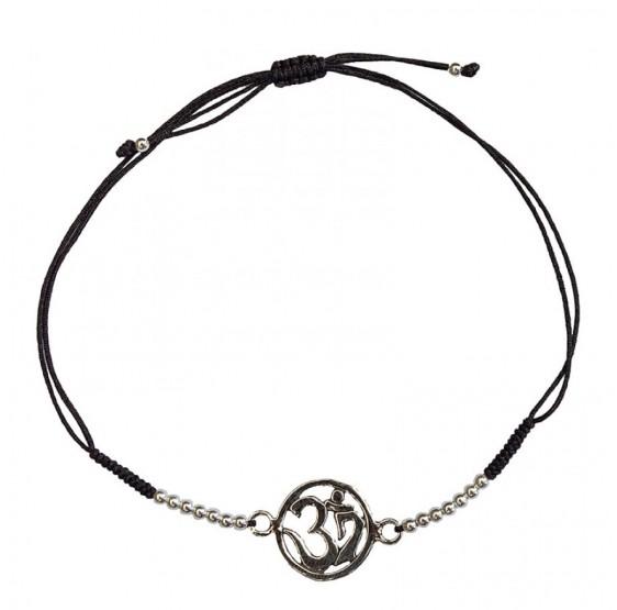 OM AUM OHM  - Argent 925  - bracelet - 1,2 cm