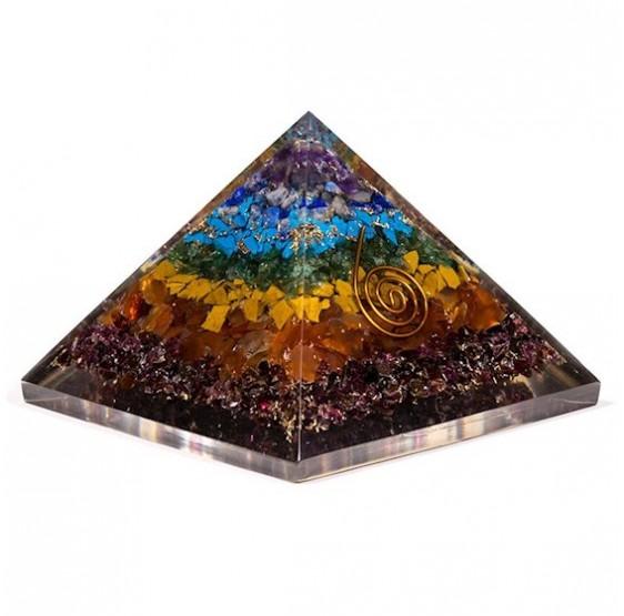pyramide orgone SPIRALE - CHAKRA 7 x 7 cm