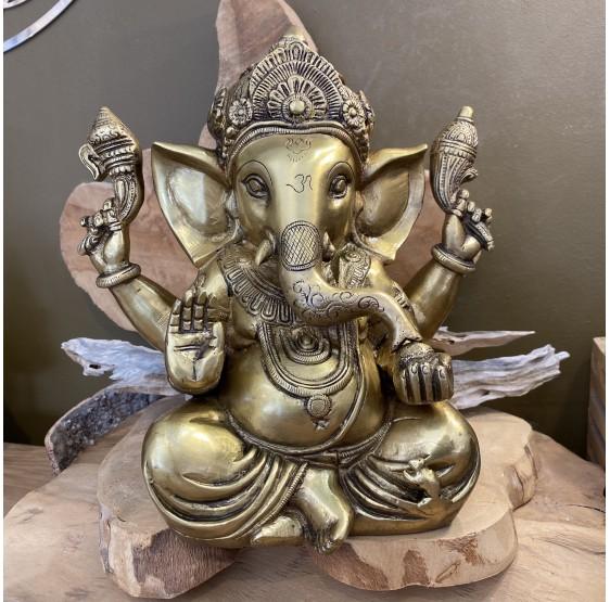 Ganesha, Antique gold - 23 cm