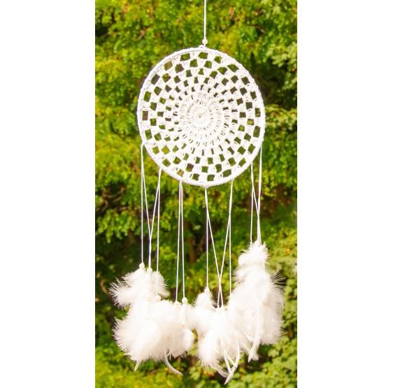 Attrape rêve - Ailes d'ange plumes - dreamcatcher - filé