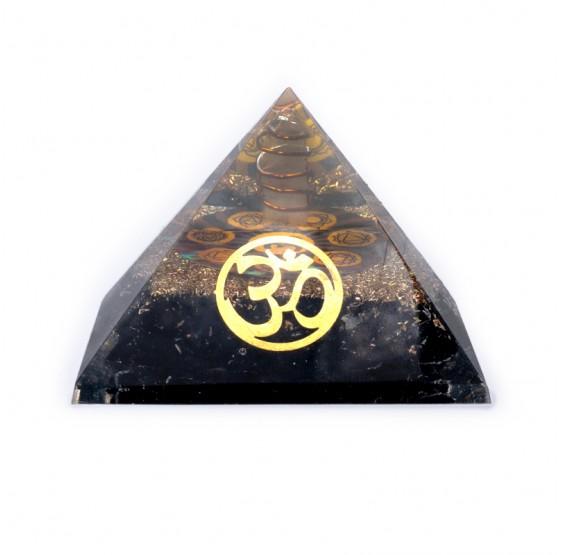 Pyramide Tourmaline avec OM Ohm - orgone