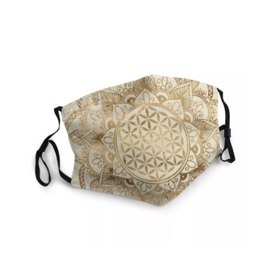 Masque buccal Fleur de vie - Lotus Mandala