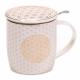 Mug Fleur de vie SET infuseur  thé
