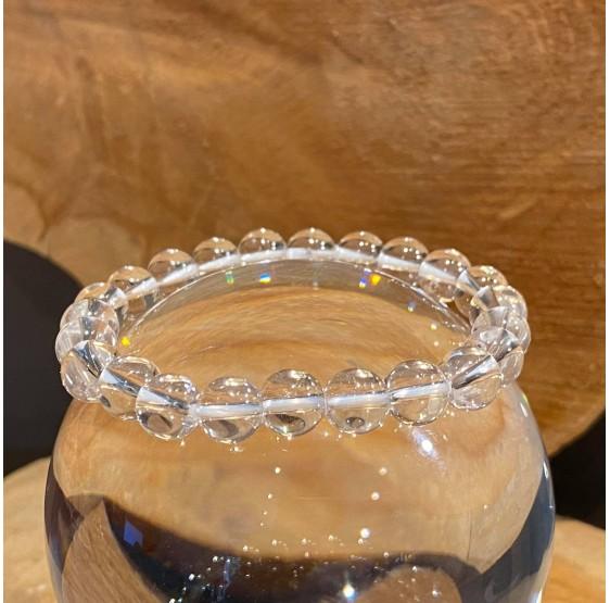 Bracelet Cristal de roche - elastique - 8 mm