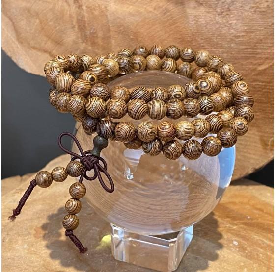 Mala collier bois 108 perles