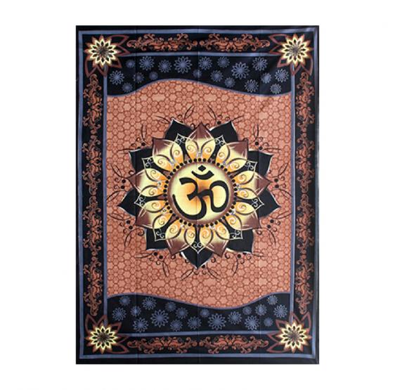 Tenture Batik OHM AUM OM - couvre lit