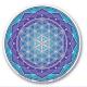 Fleur de vie - Lotus - Turquoise - autocollant