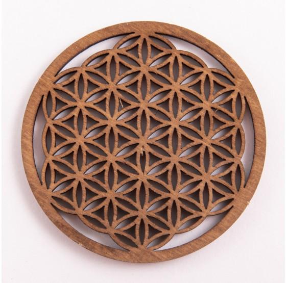 Fleur de Vie en bois - 6 cm - plaque bouleau