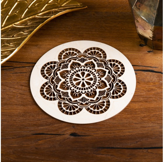 Mandala Relaxation en bois - 20 cm