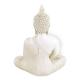 Bouddha en méditation - Thailande - blanc