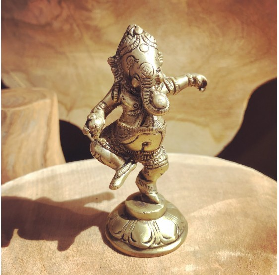 Ganesha dansant - laiton - mini-figurine