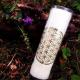 Bougie neuvaine parfumée Fleur de vie Blanche